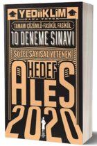 Yediiklim Yayınları 2020 ALES Sözel Sayısal Yetenek Tamamı Çözümlü 10 Fasikül Deneme