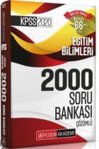 Pegem Yayınları 2020 KPSS Eğitim Bilimleri Efsane 2000 Çözümlü Soru Bankası