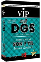 Yargı Yayınları 2020 DGS VIP Sayısal Sözel Yetenek Son 7 Yıl Tamamı Çözümlü Çıkmış Sorular