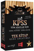 Yargı Yayınları 2020 KPSS VIP Tüm Adaylar İçin Genel Yetenek Genel Kültür Konu Anlatımlı Tek Kitap