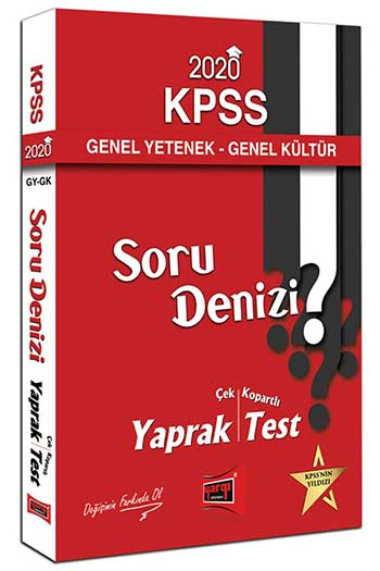 Yargı Yayınları 2020 KPSS Genel Yetenek Genel Kültür Soru Denizi Çek Kopartlı Yaprak Test