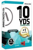 Akın Dil & Yargı Yayınları YDS 10 +1 Çözümlü Özgün Deneme Sınavı 16. Baskı