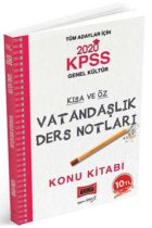 KPSS Kitapları>KPSS GY - GK>KPSS GY - GK Konu Anlatımlı>KPSS Vatandaşlık Konu Kitabı