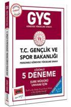 GYS Sınavları>Görevde Yükselme Sınavları>GYS Gençlik ve Spor Bakanlığı Kitabı
