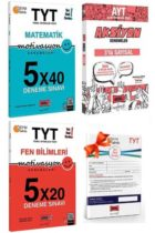 YKS Kitapları>YKS 2. Oturum AYT>AYT Sayısal Bölüm>AYT Sayısal Deneme>AYT Fasikül Deneme YKS Kitapları>YKS 1. Oturum TYT>TYT Deneme>TYT Fen Bilimleri Deneme YKS Kitapları>YKS 1. Oturum TYT>TYT Deneme>TYT Matematik Deneme Kitabı