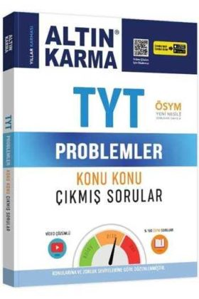 Altın Karma TYT Problemler Konu Konu Çıkmış Sorular