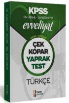 İsem Yayıncılık 2020 KPSS Evveliyat Ön Lisans Ortaöğretim Türkçe Çek Kopar Yaprak Test