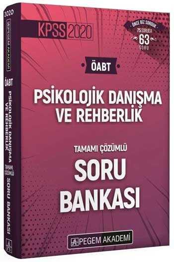 Pegem Yayınları 2020 ÖABT Psikolojik Danışma ve Rehberlik Öğretmenliği Tamamı Çözümlü Soru Bankası