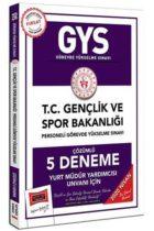 Yargı Yayınları 2020 GYS T.C. Gençlik ve Spor Bakanlığı Yurt Müdür Yardımcısı Unvanı İçin Çözümlü 5 Deneme