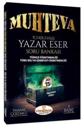 Yönerge Yayınları ÖABT Muhteva İçerik Esaslı Çözümlü Yazar Eser Soru Bankası