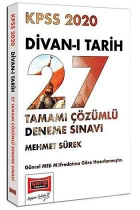 Yargı Yayınları 2020 KPSS Divan-ı Tarih Tamamı Çözümlü 27 Deneme Sınavı