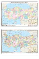 Ankara Yayıncılık Türkiye Mülki İdare Haritası (Yazılabilir Silinebilir)