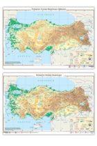 Ankara Yayıncılık Türkiye Fiziki Haritası (Yazılabilir Silinebilir)