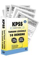 4T Yayınları 2019 KPSS Genel Yetenek Genel Kültür Tamamı Çözümlü 10 Fasikül Deneme
