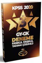 Yediiklim Yayınları 2020 KPSS GY GK Tamamı Çözümlü 3 Fasikül Deneme