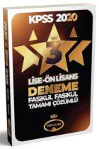 Yediiklim Yayınları 2020 KPSS Lise Ön Lisans GY GK Tamamı Çözümlü 3 Fasikül Deneme